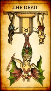El Diablo invertido Tarot