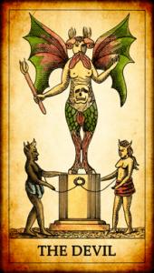 El Diablo Tarot arcano mayor