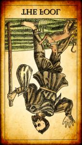 Tarot El Loco invertida