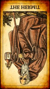 El Ermitaño tarot invertido