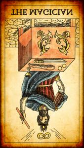 El Mago invertido tarot