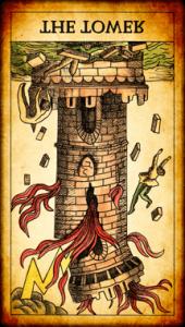 La Torre invertida arcano mayor