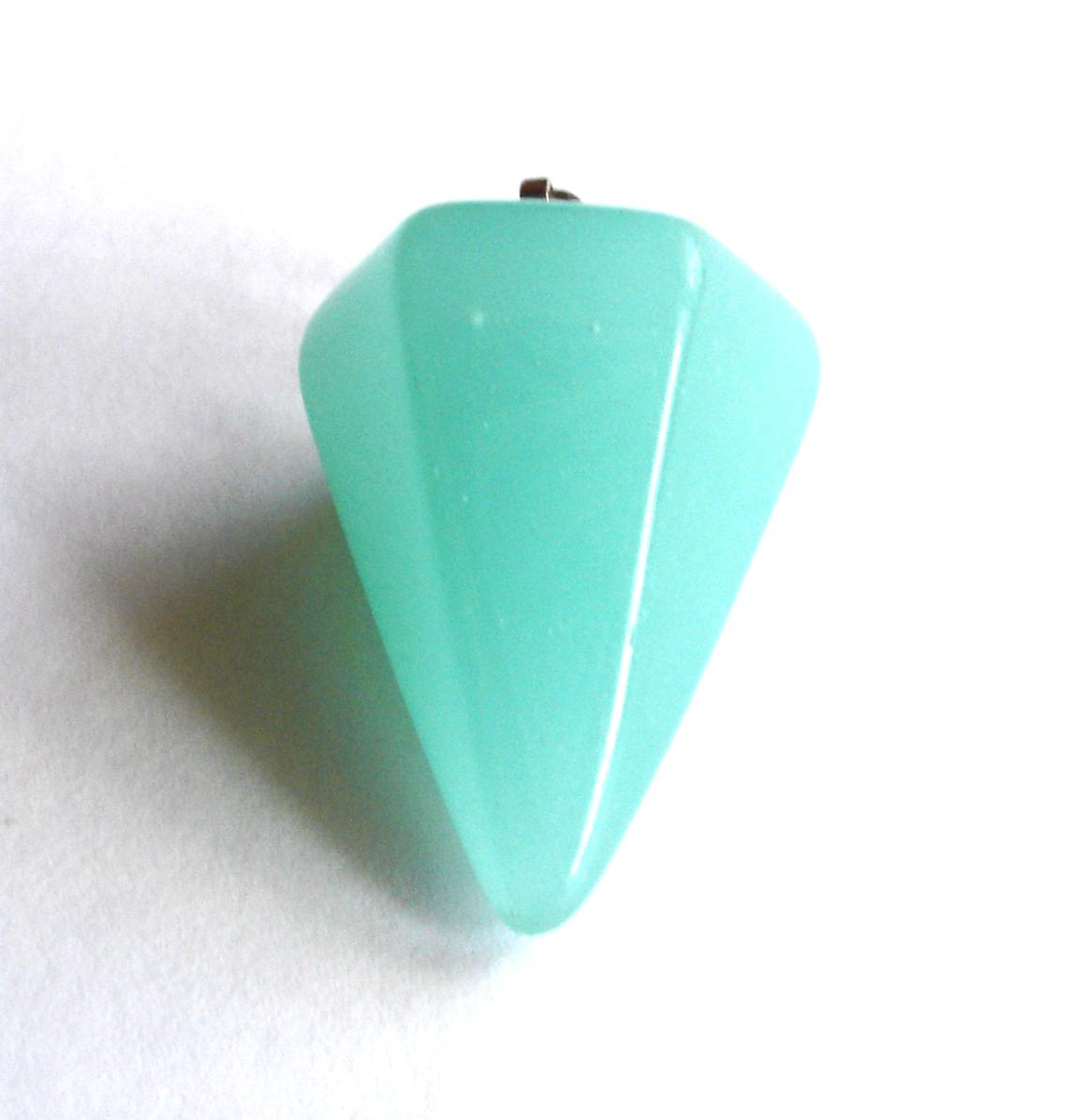 Péndulo de cristal aguamarina