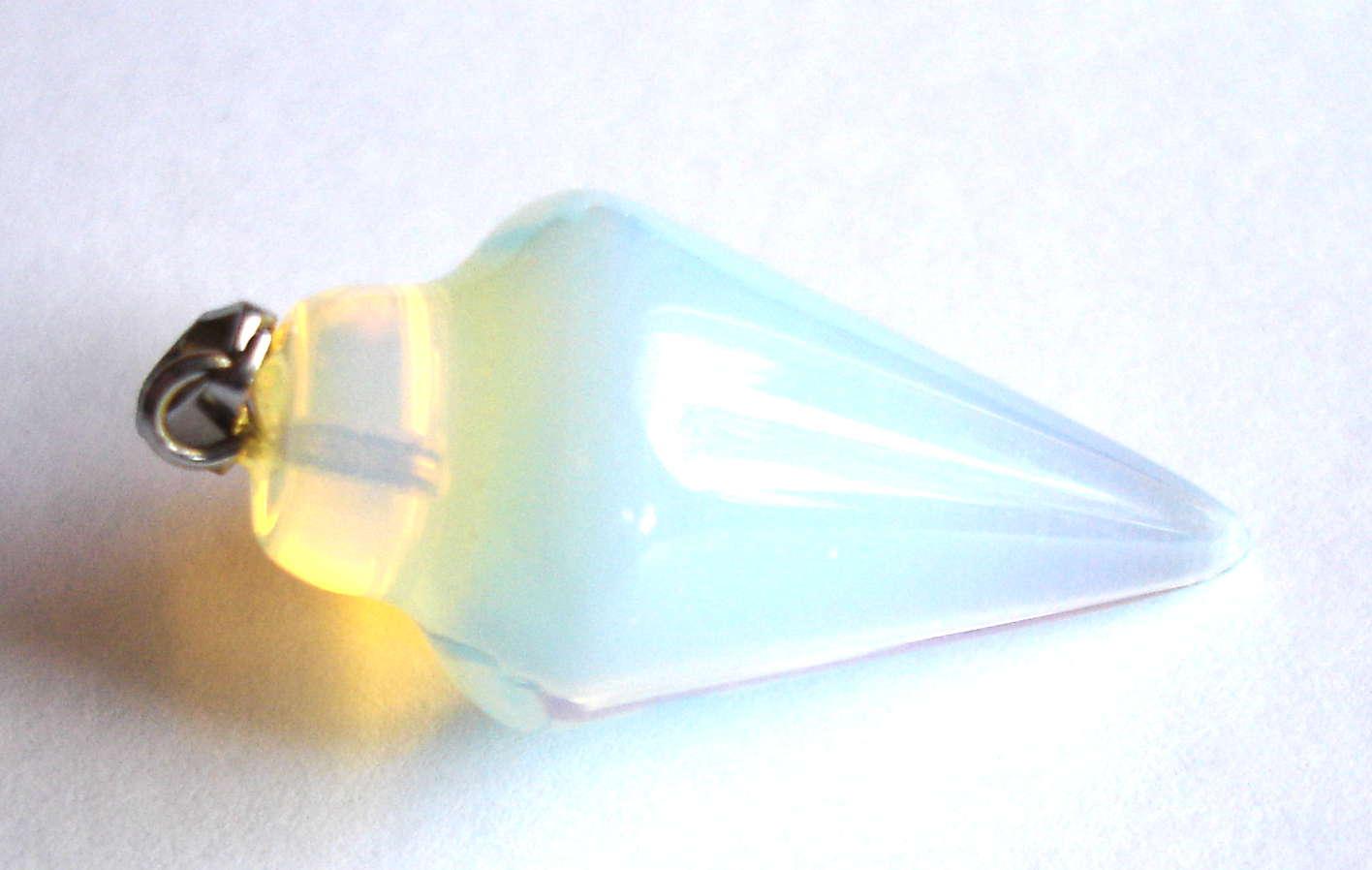 Péndulo de cuarzo irisado