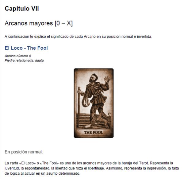 Libro Tarot - Vista previa