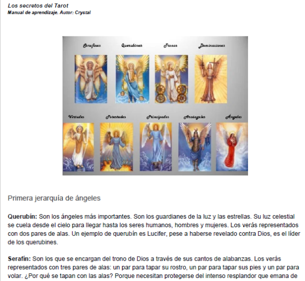 Libro Tarot - Ángeles